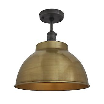 Brooklyn Vintage Metal Dome Flush Mount lys - messing - 13
