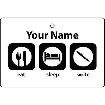 Personlig äta sömn skriva bil luftfräschare