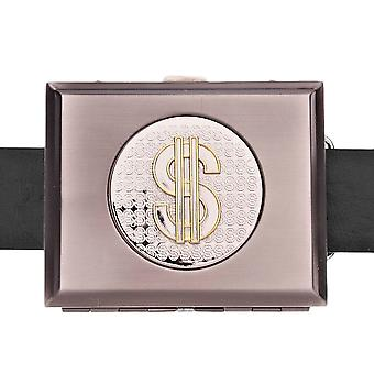 Iced out bling belt - cigarette dollar box