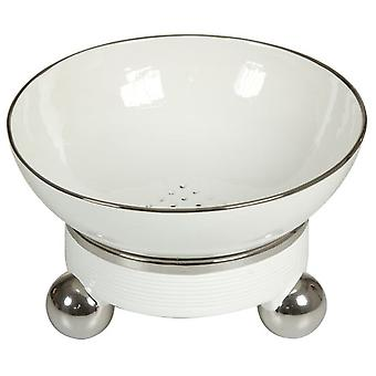 Wellindal Centro Mesa redondo blanco plata (Home , Decoration , Centerpiece)