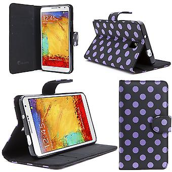 i-Blason-Samsung Galaxy Note 3 Note III  Smart Phone Leather Slim Book Case Cover with Stand Feature-Dalmatian/Black