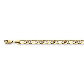 14K oro 7mm pulsera de eslabones de Mariner