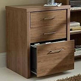 Pure - Three Drawer Office Filing Cabinet - Walnut