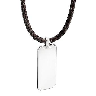 925 Silver Identity Nameplate Necklace