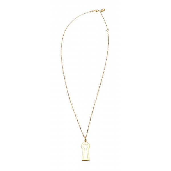 W.A.T Gold Plated 925 Sterling Silver Keyhole Necklace By Kissika