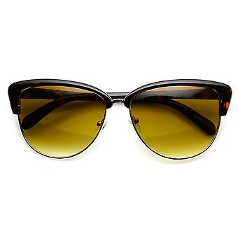 Damenmode Halbformat Schmetterling Fliege Cat Eye Sonnenbrille