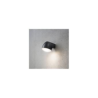 Konstsmide Ferrara Black Modern Dome Shaped Wall Down Light