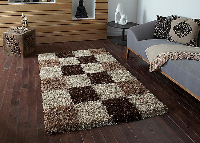 Vista - Pattern  2247 Check A tonal beige square design with a slight fleck effect Runner Rugs Modern Rugs