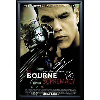 The Bourne Supremacy- Signed Movie Poster