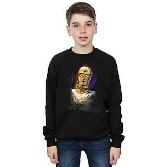 Star Wars ragazzi l'ultimo Jedi C-3PO spazzolato Sweatshirt