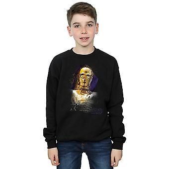 Star Wars Boys The Last Jedi C-3PO Brushed Sweatshirt