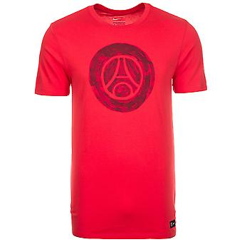 2016-2017 PSG Nike Core Crest Tee (Red) - Kids