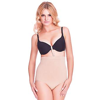 Mio Shape W1010P Nude Firm Control High Waist Slimming Brief With Bra Anchor