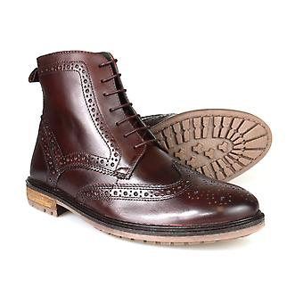 Silver Street Gerrard Oxblood Leather Formal Mens Brogue Boots