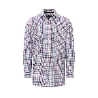 Mens kampioen Salcombe land stijl 100% katoen Casual selectievakje lange mouwen Shirt
