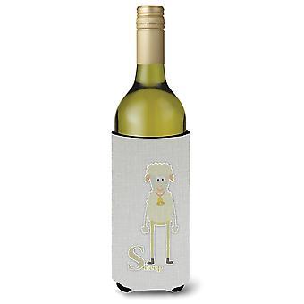 Alphabet S for Sheep Wine Bottle Beverge Insulator Hugger