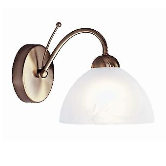 Searchlight 1131-1AB Milanese Antique Brass Single Wall Light