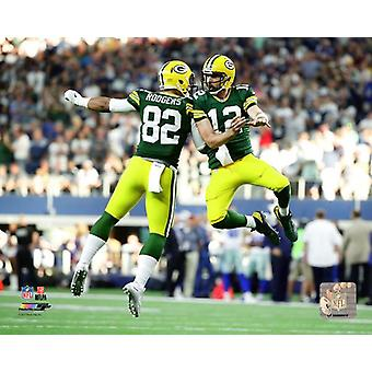 Aaron Rodgers & Richard Rodgers 2017 Action Photo Print