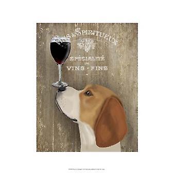 Dog Au Vin Beagle Poster Print by Fab Funky (13 x 19)