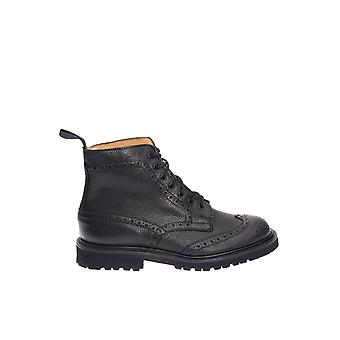 Tricker's men's STOWBSGVLT black leather ankle boots