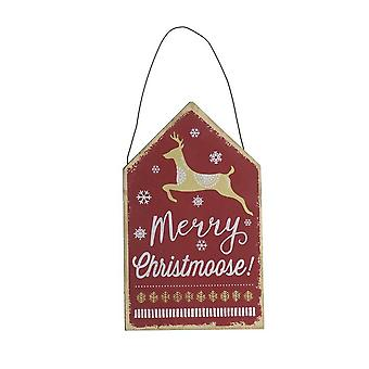 Heaven Sends Merry Christmoose Wooden Christmas Sign