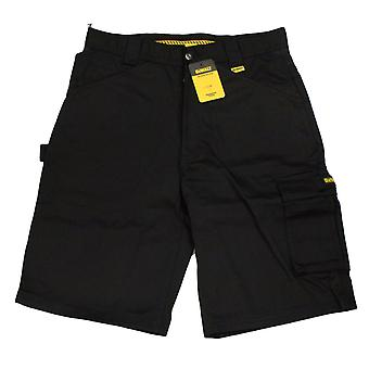 Dewalt Mens Black Cargo Work Shorts With Pockets And Hammer Loop