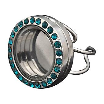 Stainless Steel Ring For Floating Charms J00085