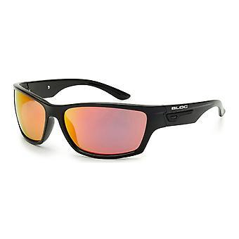 Bloc en liberté sous caution XR460 lunettes de soleil - brillant miroir noir / rouge