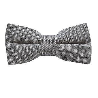 Highland Weave Stonewashed Light Grey Bow Tie