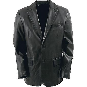 Delta Mens Leather Coat