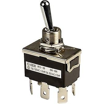 Toggle switch 250 Vac 10 A 2 x On/On SCI R13-29B