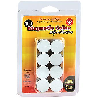 Magnetic Tape Self-Adhesive Coins 100/Pkg-.75