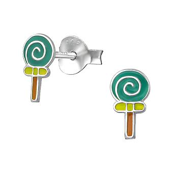 Lollipop - 925 Sterling Silver Colourful Ear Studs - W35791x