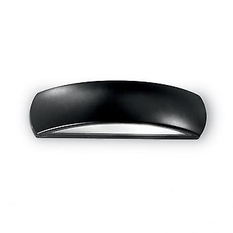 Ideal Lux Giove Modern Black Beveled Down Wall Light