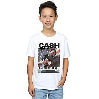 Johnny Cash Boys American Flag Overlay T-Shirt