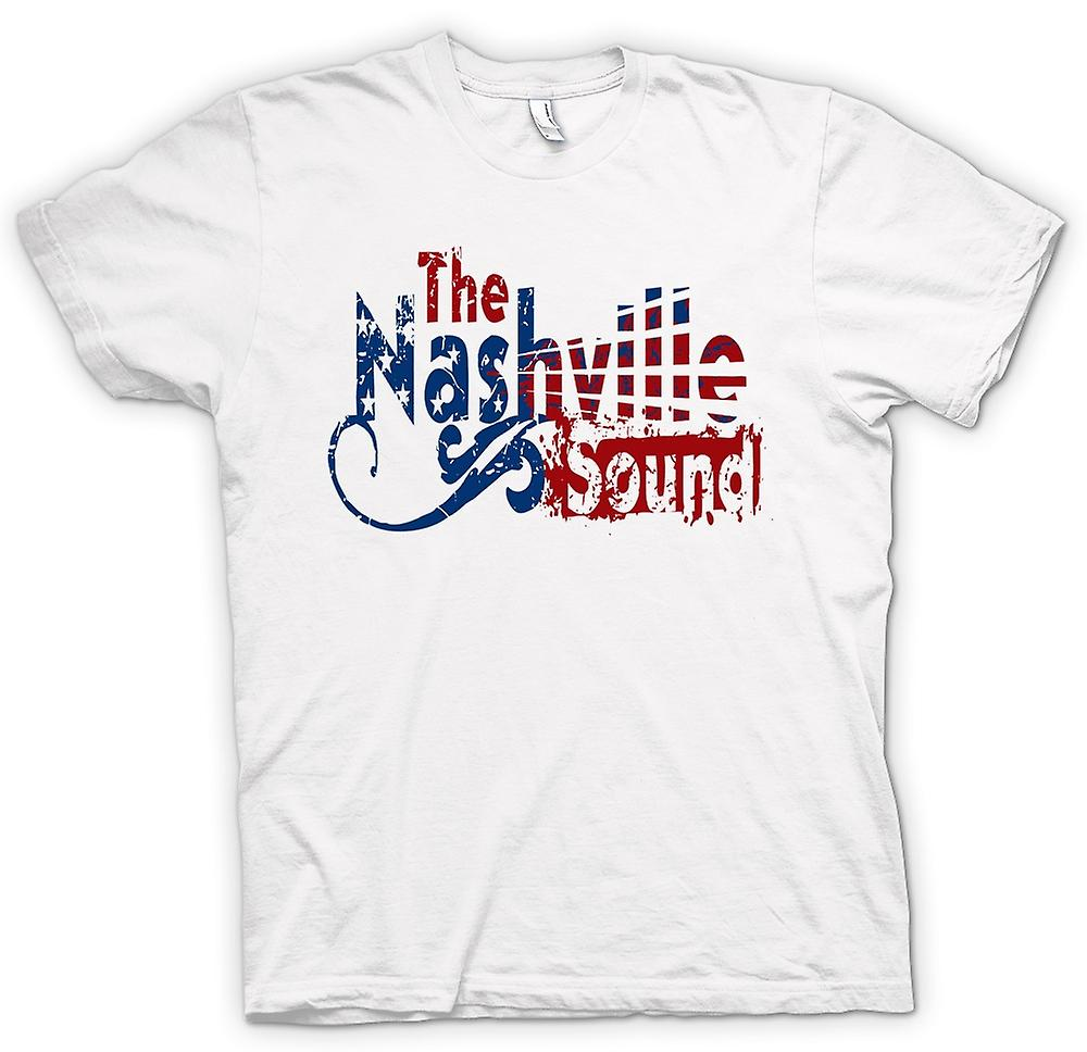 Hommes T-shirt - Nashville Sound - Blues Country Music