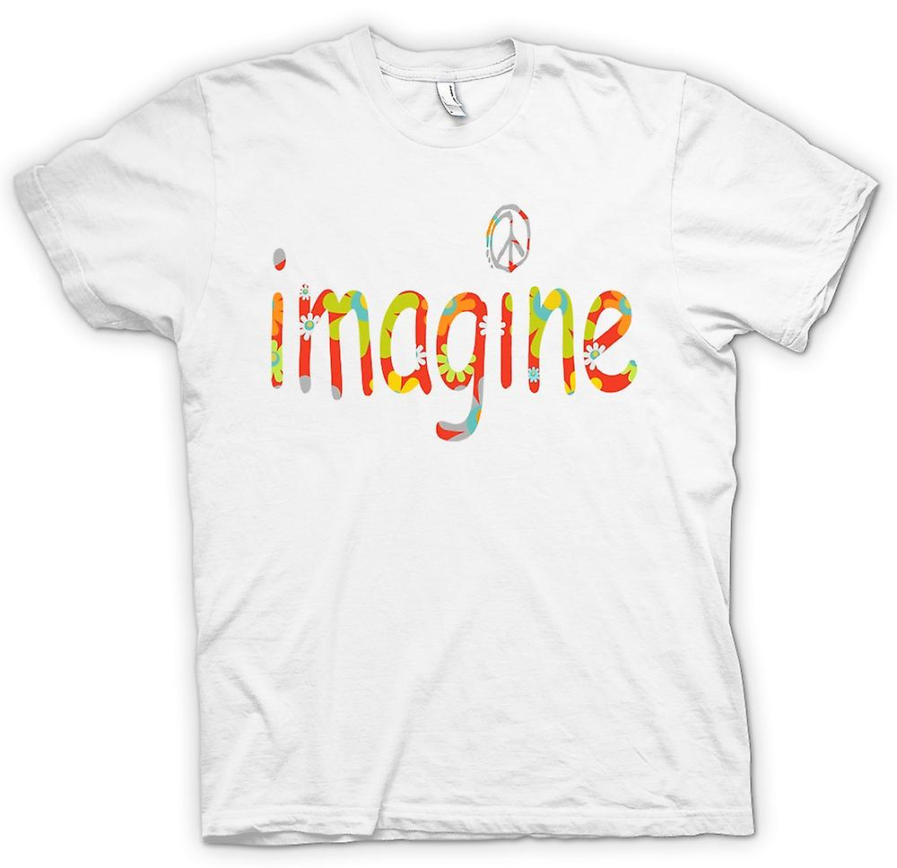 Mens t-shirt - immaginare - pace