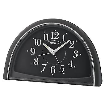 Seiko Analogue Beep Alarm Clock Black (Model No. QHE166K)