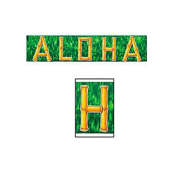 Metallisk Aloha frynse Banner