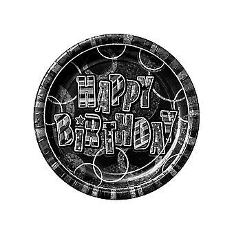 Compleanno Glitz Black & argento nero prisma 9