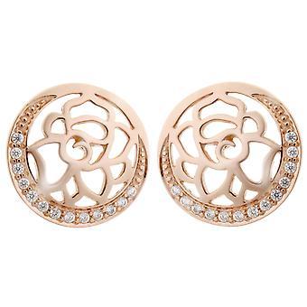 Orphelia Silver 925 Earring Rose Flower Zirc  ZO-7089/1