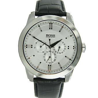 Hugo Boss black men's leather 1512892 watch