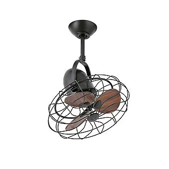 Design ceiling fan Keiki Brown with wall control