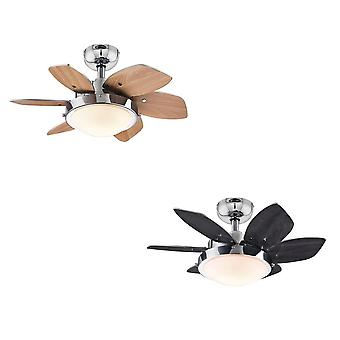 Westinghouse ceiling fan Quince Chrome with light