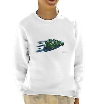 Vintage Bentley Race Streaks At Le Mans Kid's Sweatshirt