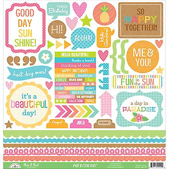 Fun In The Sun Cardstock Stickers 12