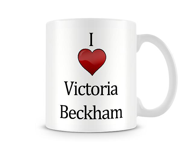 Ik hou van Victoria Beckham bedrukte mok