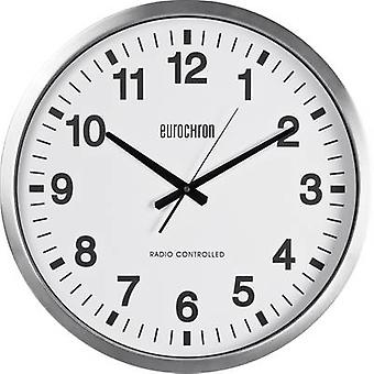 Eurochron Radio Wall clock 507 mm x 63 mm Silver