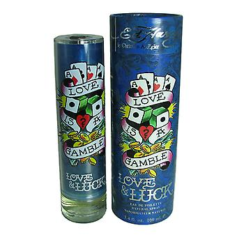 Ed Hardy Love & chance pour hommes 3,4 oz EDT Spray
