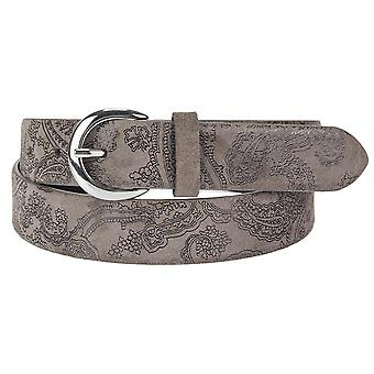 s.Oliver women's leather belt Paisley pattern 32.610.95.7104-8617